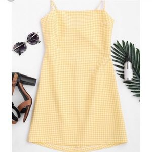 NWT Yellow Gingham Dress